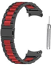 Applicera på Galaxy Watch 4 Classic 42 mm 46 mm/Watch 4 40 mm 44 mm rostfritt stålarmband för Galaxy Watch4 metallarmband, massivt rostfritt stål klockarmband snabbfrigörande rem