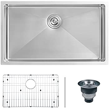 Ruvati 30 Inch Undermount 16 Gauge Tight Radius Kitchen Sink Stainless Steel  Single Bowl