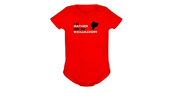 I d Rather BE en Ecuador en body rojo rojo Talla:6M: Amazon ...