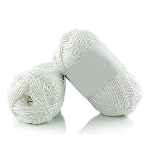 bjduck99 1Pc 50g Per Skein Soft Bamboo Smooth Crochet Cotton Knitting Baby Knit Wool Yarn