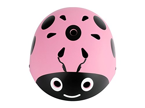 Yunqir Children Ladybug Helmet Cute Street Bike Helmet Cartoon Riding Helmet Skate Helmet(Pink)