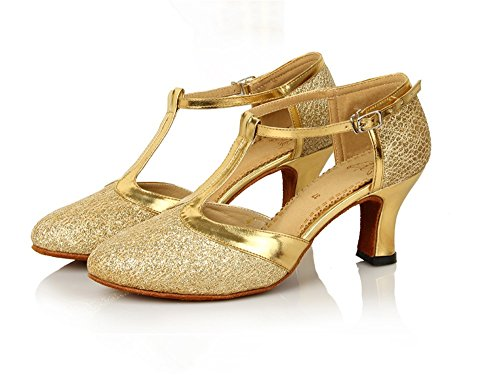 Jazz Tmkoo à Hauts De Metallic contemporain Danse Souples à En Latine Chaussures Semelles Danse Talons rrx4YS