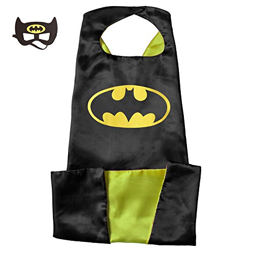 Adult Superhero Capes And Masks 140 90 CM For Party Costumes Play With Kids (14090 CM, Batman)
