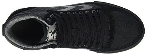 Hummel Alta Cima Sneaker Unisex Adulto - Sottile Stadil Tela Liscia - Lino Cerato Scarpe / Pelle Scamosciata - Scarpa Casual Div. Colori - Sneaker Tazza Sole Nero (nero)