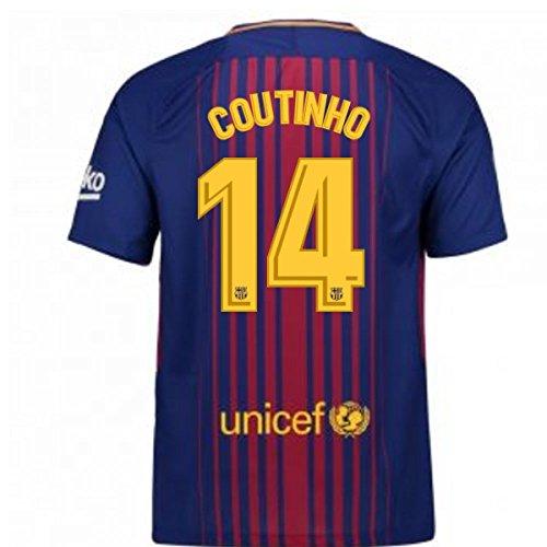 に対処する広い北方2017-2018 Barcelona Home Shirt (Coutinho 14) - Kids
