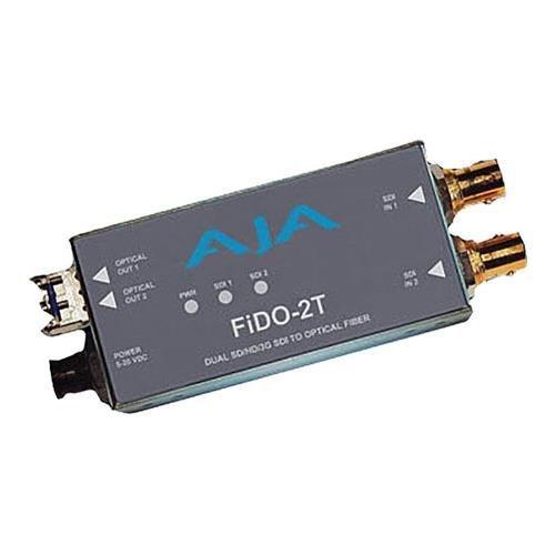 AJA FiDO-2T Dual Channel SDI to LC Fiber Mini Converter (FiDO-2T)