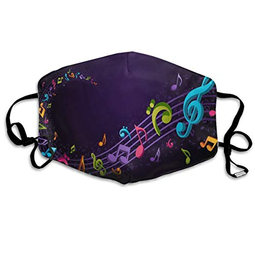(Anti Dust Mask Music Notes Purple Surgical Mask Winter Healthy Windproof For Boys Easter)