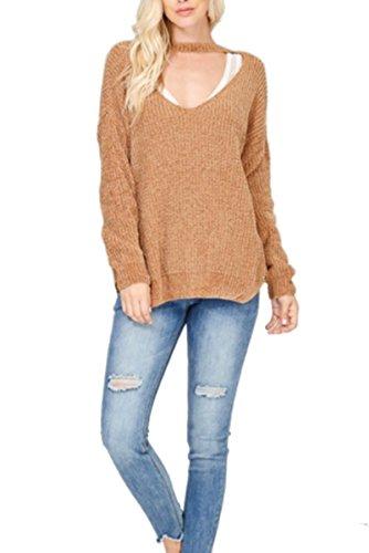 fe15ca934cb74 Wishlist Womens Versatile Keyhole Long Sleeve Sweater Top-Gucci-s m