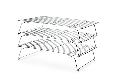 Fox Run 4698 Stackable Cooling Rack Set, Chrome, - Tiered Cooling Rack