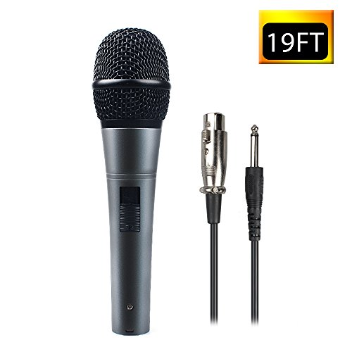 Professional Dynamic Cardioid Vocal Wired Microphone with XLR Cable (19' XLR-to-1/4
