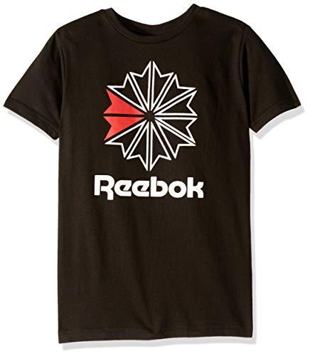 Reebok Boys' Big Short Sleeve Basic T-Shirt, Icon Black 8