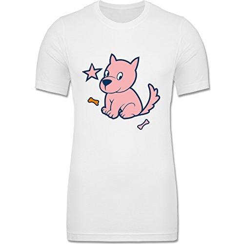 Hunde - Hund - XS - Weiß - CV3001 - Körperbetontes Männer T-Shirt aus Baumwolle