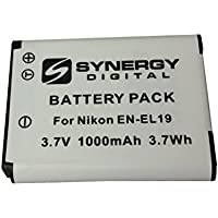 Nikon Coolpix S6500 Digital Camera Battery Lithium Ion (1000 mAh 3.7v) - Replacement For Nikon EN-El19 Battery