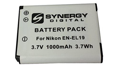 Nikon Coolpix S4300 Digital Camera Battery Lithium Ion (1000 mAh 3.7v) - Replacement For Nikon EN-El19 Battery