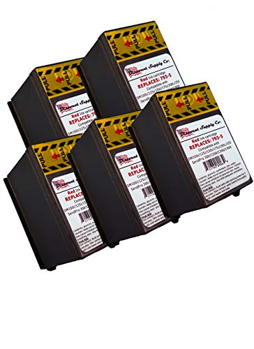 5 X Pitney Bowes 793-5 Red Ink Cartridge for P700, DM100, DM100i & DM200L Postage Meters (Pitney Bowes Pbi Ink Cartridge 793 5)