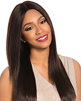 Sensationnel Bare&Natural 100% Brazilian Virgin Remi Unprocessed Human Hair Swiss 4X4 Lace Wig - NATURAL YAKI (NB)
