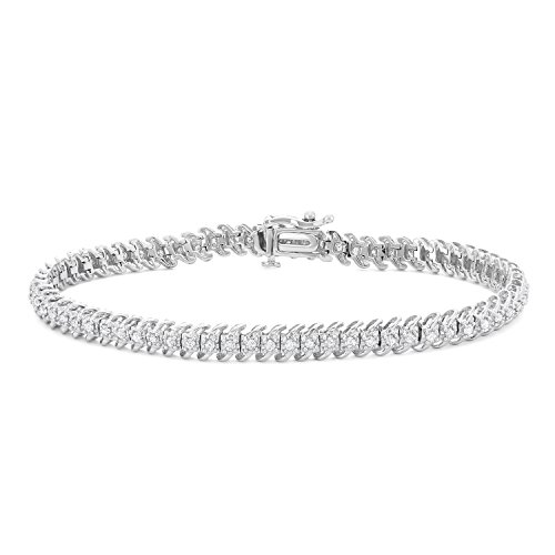 1 CTTW White Diamonds Tennis Bracelet in 10KT Gold (I-J, (10k Gold Tennis Bracelet)