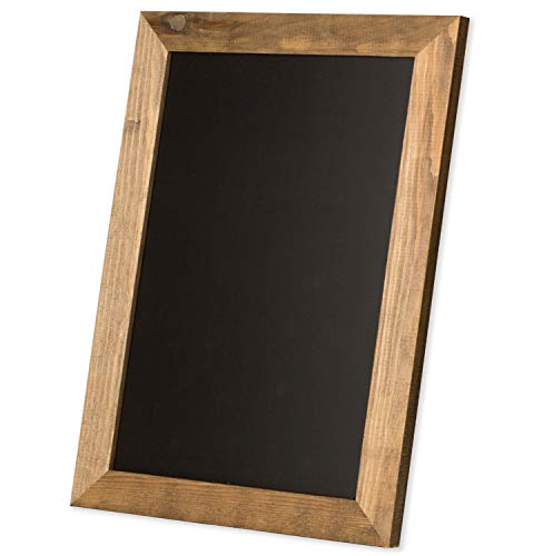 Ilyapa Rustic Wooden Magnetic Kitchen Chalkboard Sign - 20x30 Inch Brown Framed Hanging Chalk Board for Farmhouse Decor, Wedding, Restaurant & -