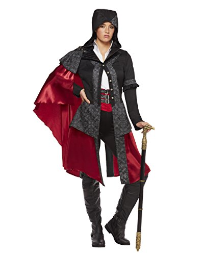 Spirit Halloween Adult Evie Frye Costume- Assassin's Creed, S, Black, S, Black