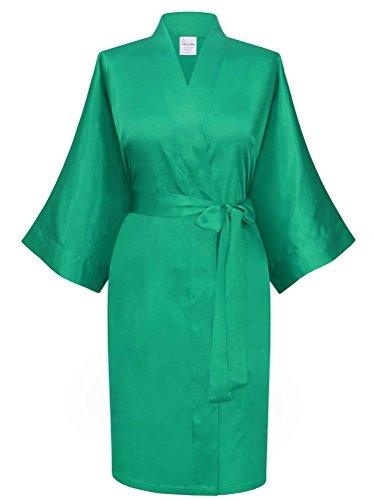 Swhiteme Women's Kimono Robe, Short, One Size ()