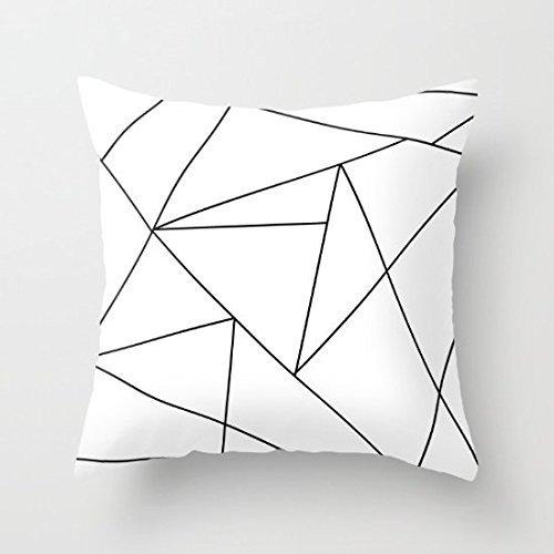 Decorativa Funda de almohada de Origami negro y blanco funda ...