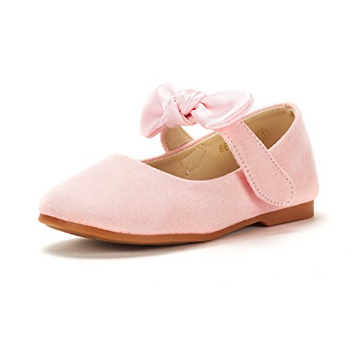 (DREAM PAIRS Toddler Belle_02 Pink Girl's Mary Jane Ballerina Flat Shoes Size 6 M US Toddler)