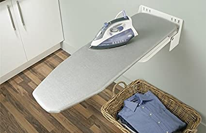 Tabla de planchar ironfix 568.66.723 montaje a pared con toalla copriasse