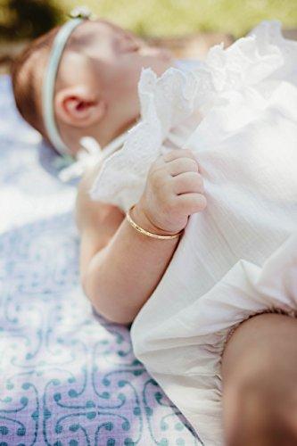 nths Baby Bracelet Bangle, Rose Gold, Baptism, Keepsake Gift (14k Gold Baby Bangle)