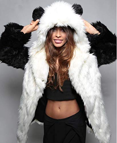 Manteau Femmes XL Chaud pour Manches Long Manteau Moelleux Longues Huaishu White aB6Zcq