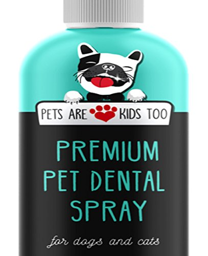 NEW Premium Pet Dental Spray (8oz): Best Way To Eliminate Bad Dog Breath & Bad Cat Breath! Naturally Fights Plaque, Tartar & Gum Disease Without Brushing! Spray In Mouth or Add to Water! 1 btl (Dogs Mouth Spray)