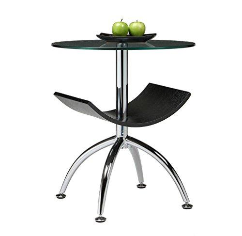 Impacterra QLID42579662001 Ingardia End Table, Wenge Veneer