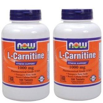NOW FoodsL-カルニチン 1000mg 100粒 2個セット [海外直送品] B00DHZMN3M