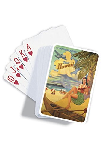 Visit Honolulu Hawaii Playing Cards by Welcome to the Islands