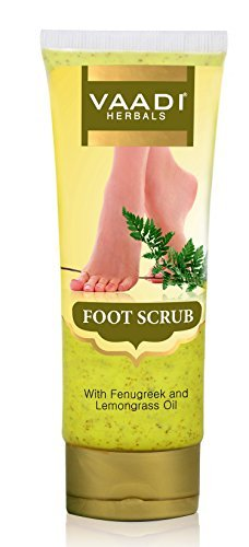 Foot Scrub - Foot Scrub exfoliator - Foot Scrub Cream - Natural, Anti-fungal Callus Remover and Therapeutic Exfoliator - Fast Absorbing - Makes Your Feet Super Soft - 110 Grams - Vaadi Herbals