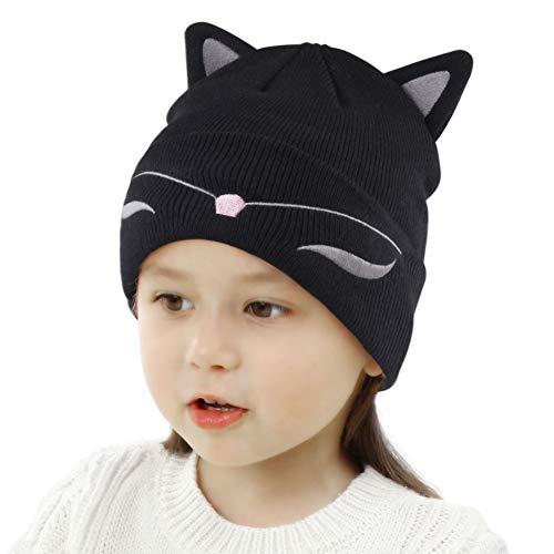 New Autumn Winter Unisex Kids Baby Girls & Boys Knitted Hat With Fleece Cute Dog Hat Baby Bonnet Photo Props Keep Warm Men's Hats