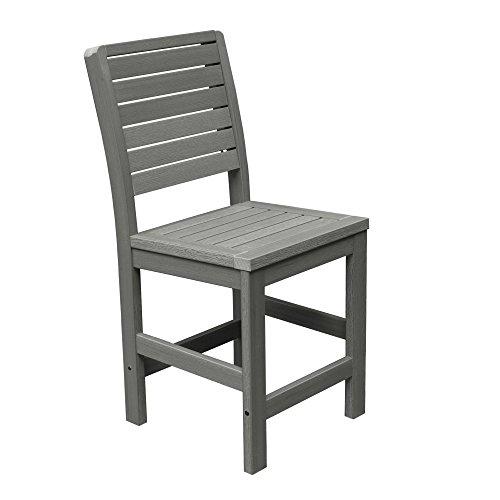 (Highwood Weatherly Armless Counter Height Chair, Coastal Teak)