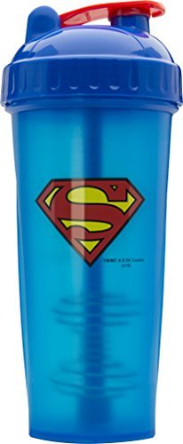 Performa Perfect Shaker - Superman Shaker Bottle, Best Leak Free Bottle With Actionrod Mixing Technology For Your Sports & Fitness Needs! Dishwasher and Shatter Proof