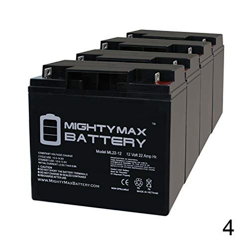Mighty Max Battery 12V 22Ah Baoshi 6-DZM-20 6DZM20 Scooter Bike Sealed Battery - 4 Pack Brand Product ()