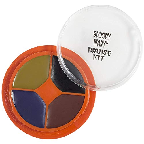 Easy To Do Halloween Eye Makeup (Special Effects Bruise Makeup Kit By Bloody Mary - Theatrical & Halloween Bruising Palette - SFX Fake Bruise Wheel For Fresh, Black, Blue, Old & Healing Bruises - Non)
