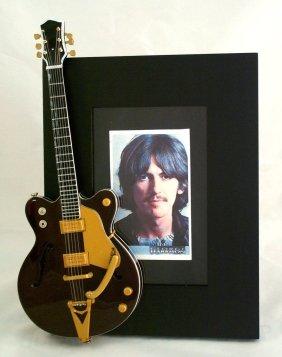 GEORGE HARRISON Miniature Guitar Photo Frame Country Gentleman -