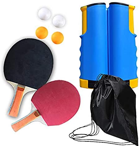 Yous Auto Tragbare Tischtennis Sets,Tischtennis Trainer Kinder Tischtennis-Set,Justierbarer Einziehbares Tischtennis-Netz f/ür Schule,Heim,B/üro und Sportverein