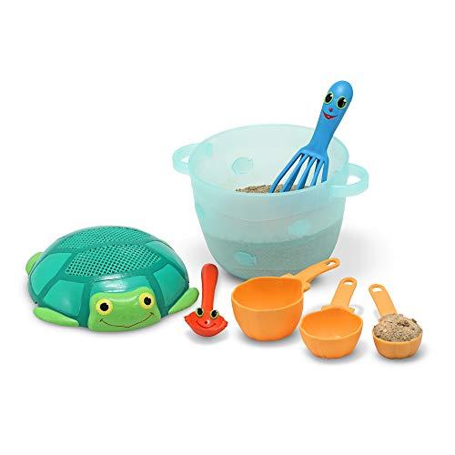41 W0KhL2rL - Melissa & Doug Sunny Patch Seaside Sidekicks Sand Baking Set (Pretend Play, Beach Toys for Kids, 7 Pieces)