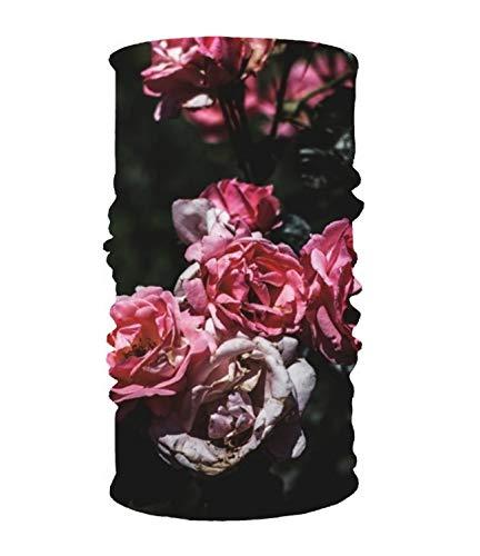(Unisex Petals Pink Roses 1 Quick Dry Microfiber Headwear Outdoor Magic Bandana Neck Gaiter Head Wrap Headband Scarf Face Mask Ultra Soft Elastic Handscarf)