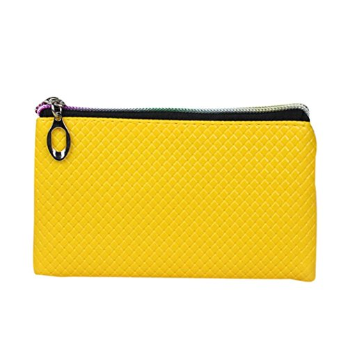Wallet,toraway Fashion Women Leather Wallet Zipper Clutch Coin Purse Handbag Bags (Yellow Items)