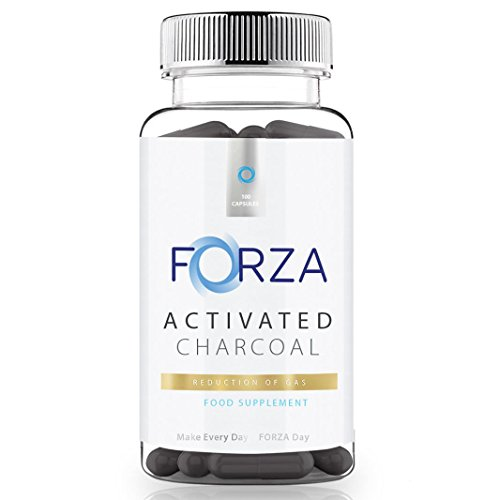 FORZA Activated Charcoal Capsules 1000mg High Strength Formula - Reduce Bloating With Activated Charcoal Tablets - 100 Capsules by Forza