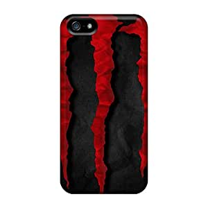 Moddcasess TOa11597hxvY Cases Covers Iphone 5/5s Protective Cases Red Monster Energie