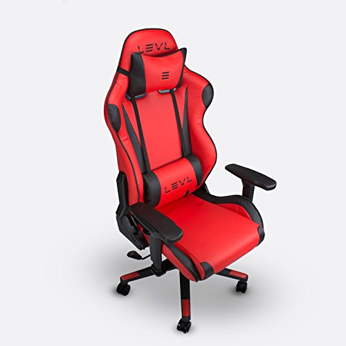 41 W1PQKIbL - LEVL-Gaming-Alpha-Series-Gaming-ChairOffice-Chair-Heavy-Duty-with-Neck-and-Lumbar-Pillows