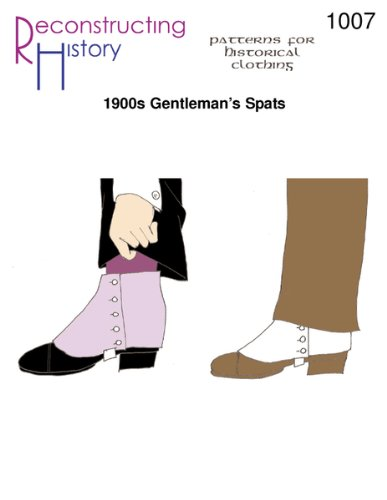 1920's Historical Costume (1900s Gentleman's Spats Pattern)