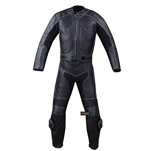 (New Men's 2PC Motorcycle Leather Racing HUMP 2 PC Two Piece Armor Suit)