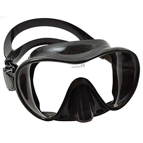 Sea Elite Scuba Mask Frameless Surefit Black